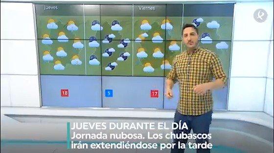 El tiempo en Semana Santa   ➡️Mañana del JUEVES: Nubes y chubascos 🌧️ a partir del mediodía ➡️Madrugada del JUEVES: Las lluvias se irán alejando 🌙 ➡️Mañana del VIERNES: Día nuboso ⛅️ con lluvias probables durante la tarde 🌧️ ➡️Noche del VIERNES: Precipitaciones puntuales https://t.co/uoQkIP7HaG