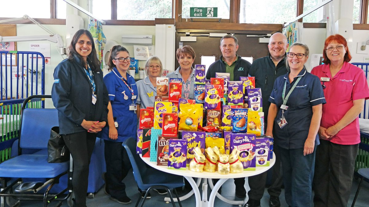 Thank you to our friends @balfourbeatty who have delivered some #Easter treats for our young patients on Peter Pan and Wendy Wards this afternoon.