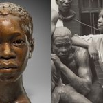 Image for the Tweet beginning: Sculptor Augusta Savage's towering impact
