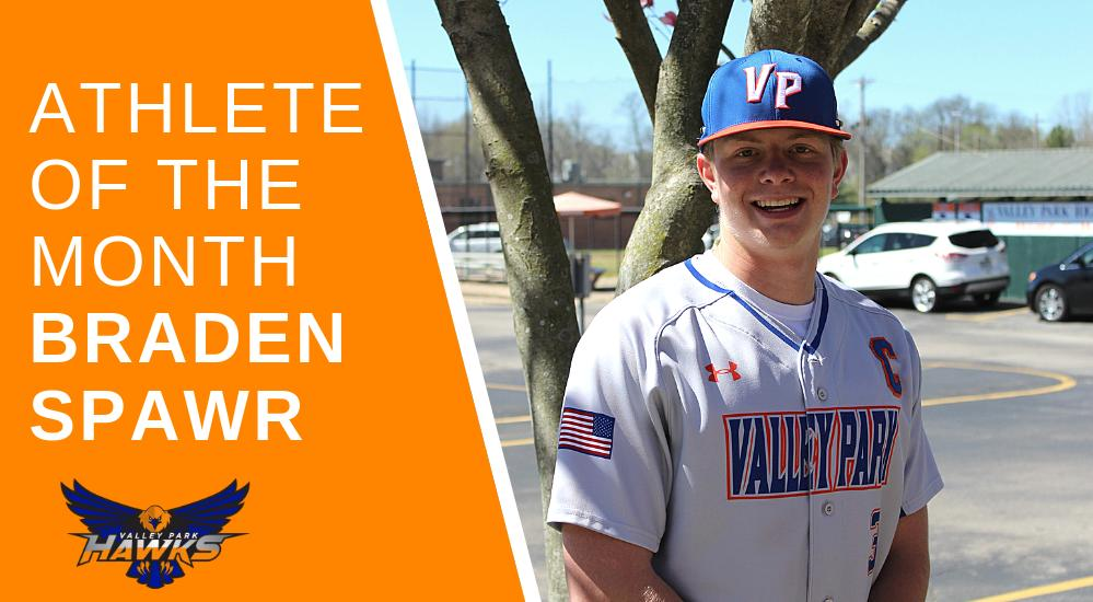 Congrats to our #athleteofthemonth, Braden Spawr!