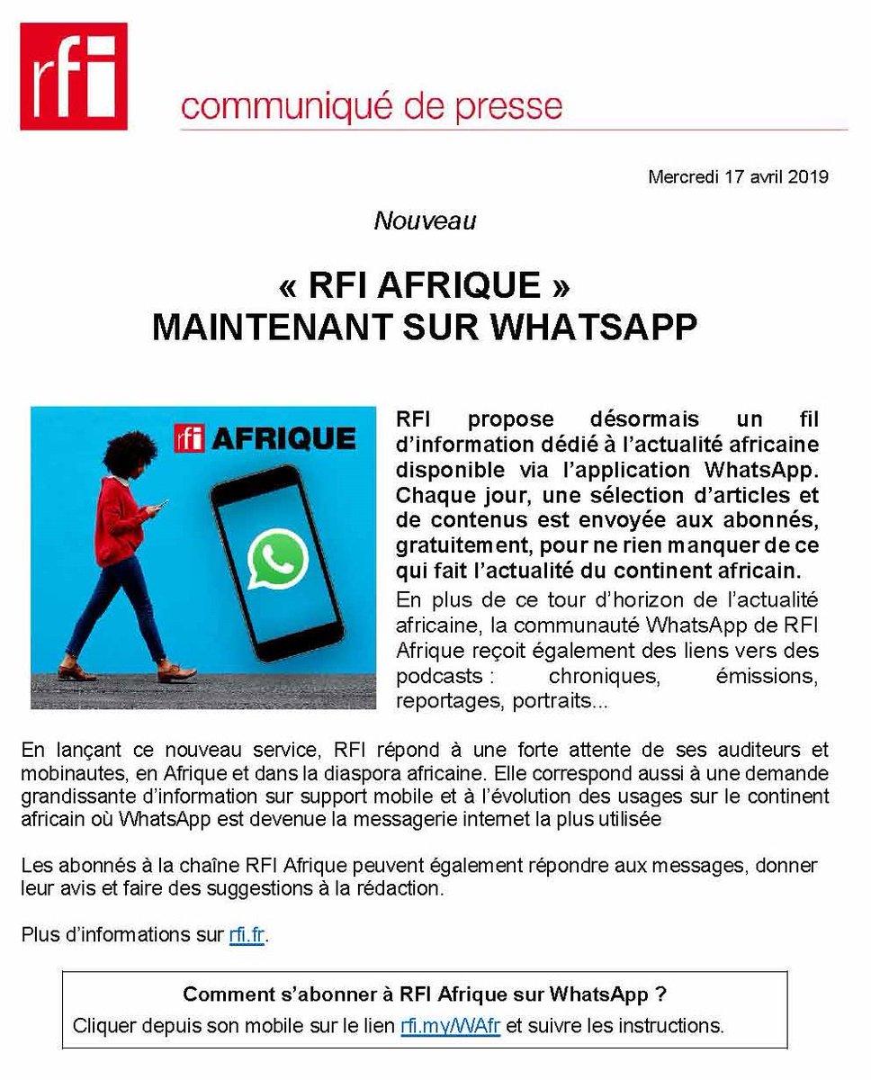 RFI – Relations Presse в Twitter: