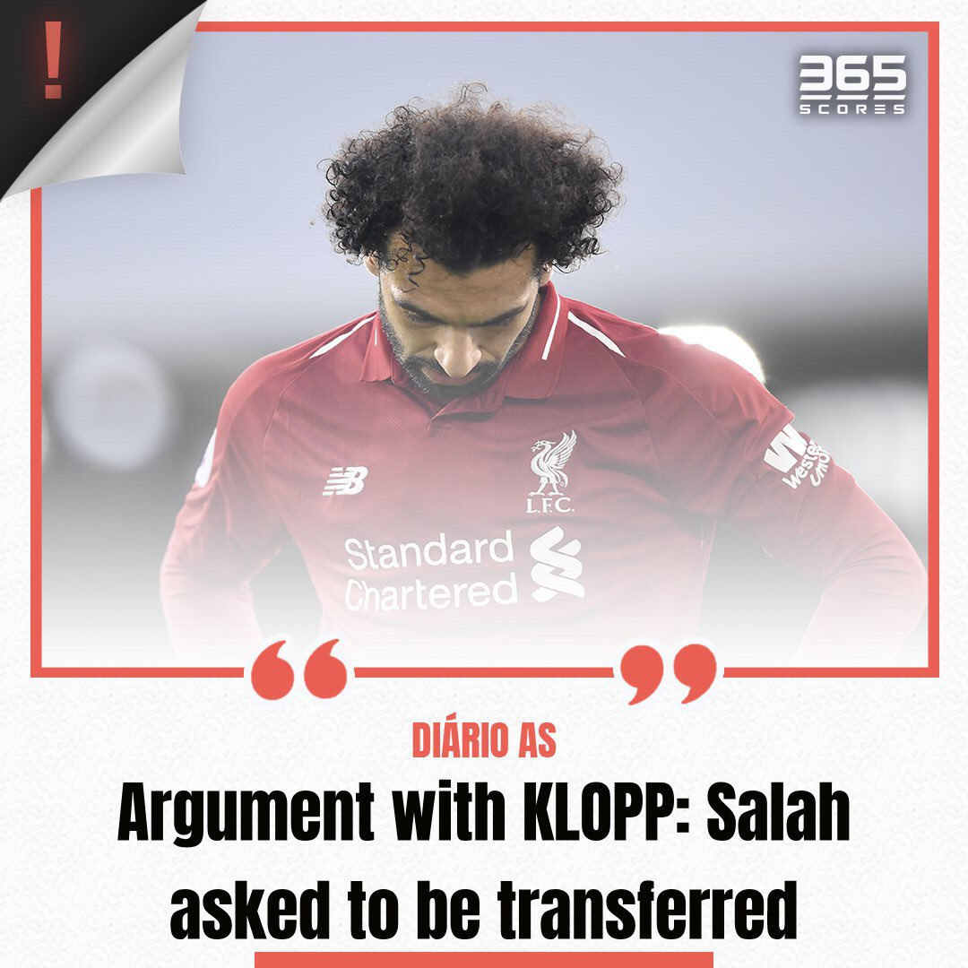 Mo Salah is on his way out of Liverpool? According to #DiarioAs, it might just happen. . . . #salah #klopp #liverpool #transfermarket #ucl #fcplfc