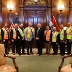 Image for the Tweet beginning: We met with Governor @GovParsonMO