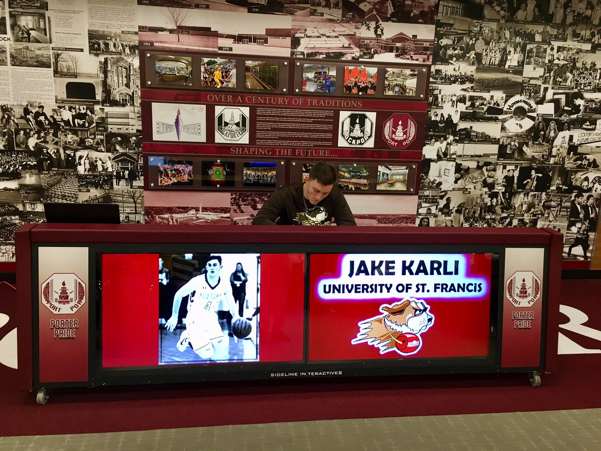 Congratulations to Jake Karli on signing with the University of St Francis!  He's been the rock of our program for the last 3 years. The @USFSaints are lucky to have him!  #UNCOMMON #PorterPride