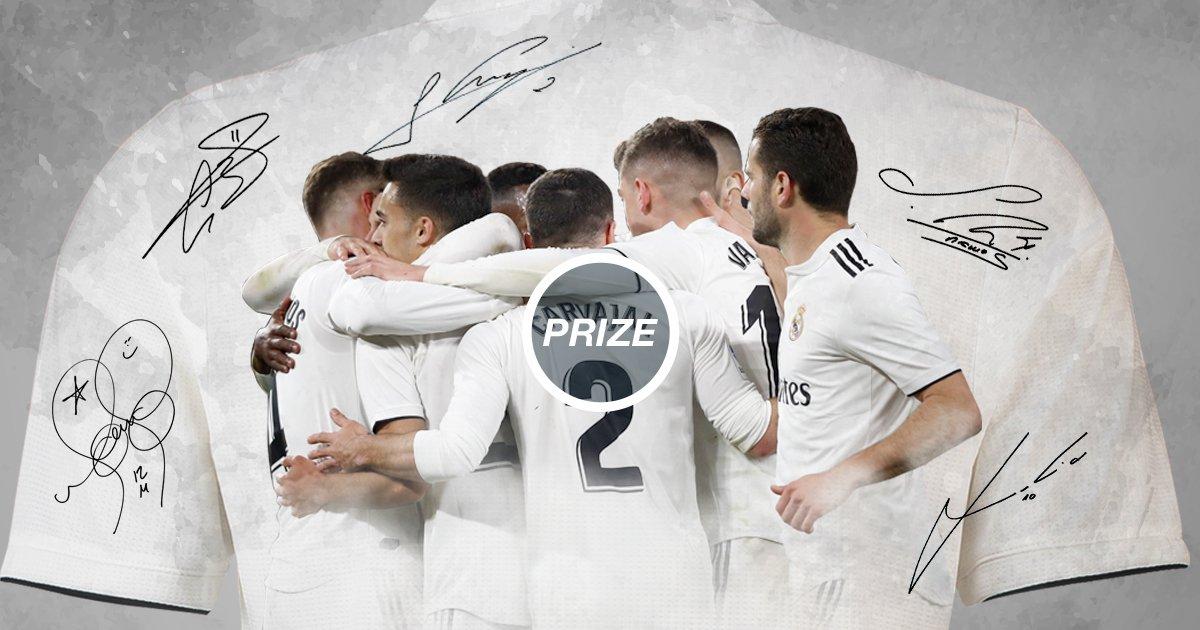✍👕 Gana una camiseta oficial del realmadrid con el nombre y dorsal de tu jugador favorito firmada por él. ¡Participa!  👉 http://bit.ly/_RMCamiseta_