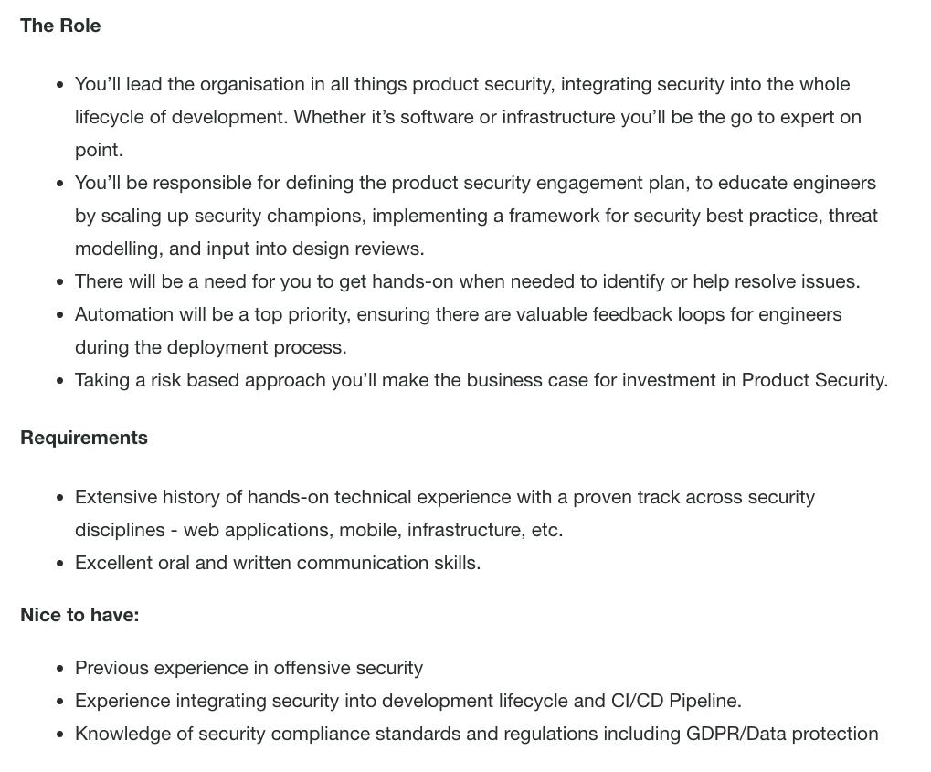#Deliveroo are hiring #Security / #Infosec people in London!  Product Security Lead https://boards.greenhouse.io/deliveroo/jobs/1640872… Security Operations Lead https://boards.greenhouse.io/deliveroo/jobs/1640875… Information Security Analyst https://boards.greenhouse.io/deliveroo/jobs/1640879…  Overview / Contact Details https://www.linkedin.com/feed/update/urn:li:activity:6522452506243530752…