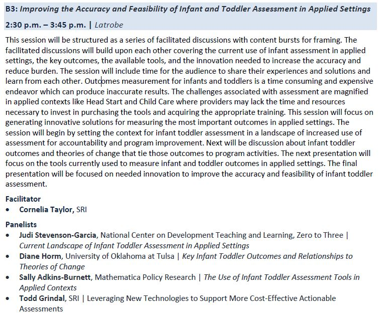 CCEEPRC Agenda: Improving the Accuracy and Feasibility of Infant and Toddler Assessments in Applied Settings