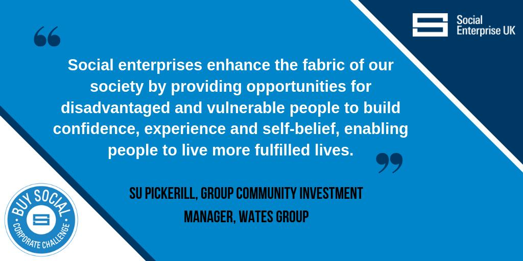 .@SuPickerill from Corporate Challenge Partner @WatesGroup on one of the reasons that they work with social enterprises.   Read this year's #BuySocial Corporate Challenge Impact report here >> http://ow.ly/TtTE50qDs39  #socent