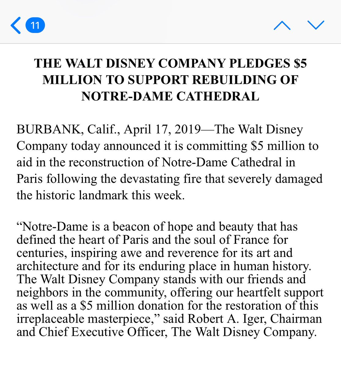 Yes, it builds good will in a country where they have a theme park to keep full etc. But also standup 👏