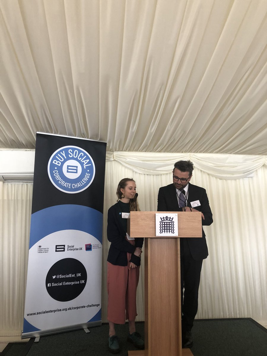 What an incredible day at the House of Commons for @SocialEnt_UK and their #BuySocial corporate challenge! Amazing to hear from some inspirational people including our very own Tallulah.