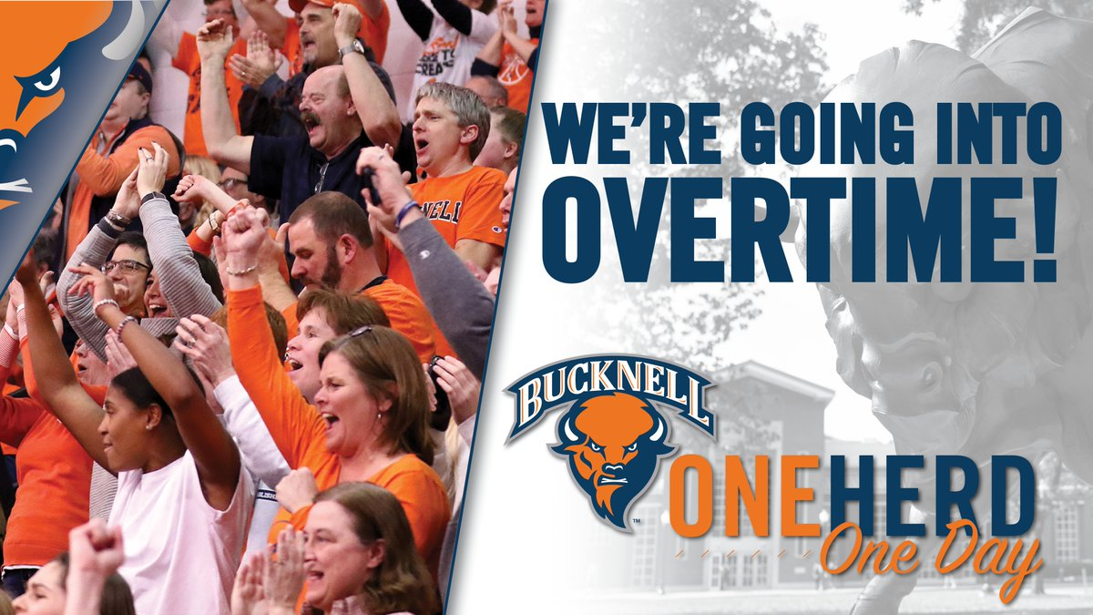 🚨 BREAKING NEWS: #OneHerdOneDay is going into overtime! There's still time to make your gift and have it count toward our challenge totals. #rayBucknell #TheBisonWay   https://www.givecampus.com/schools/BucknellUniversity/one-herd-one-day/?a=2176645…