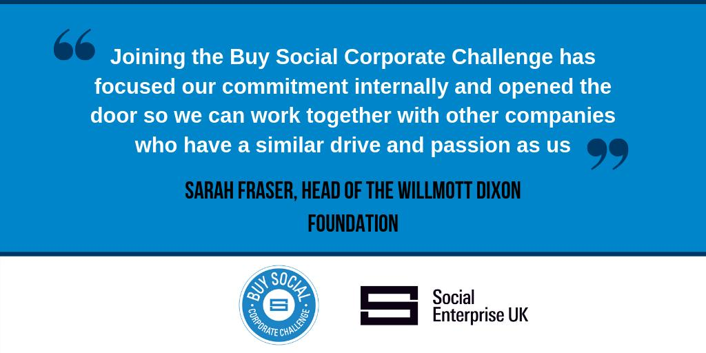 Head of @WillmottDixon Foundation @WD_SarahFraser on joining the #BuySocial Corporate Challenge.   Read the Year 3 Impact report here >> http://ow.ly/oMJ850qDuBk  #socent