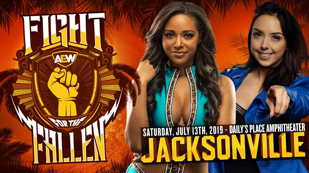 AEW's announcement about Fight For The Fallen Show