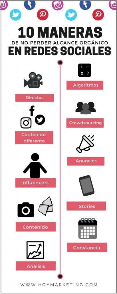 Formas de ganar alcance orgánico en Redes Sociales: ✳️Conoce los algoritmos ✳️Atrévete con los Directos ✳️Invita a tus seguidores a participar ✳️Un contenido diferente para cada red social ✳️...  https://hoymarketing.com/aumentar-alcance-organico-redes-sociales/…  #RedesSociales Vía @hoymkt & @maela_muchmore