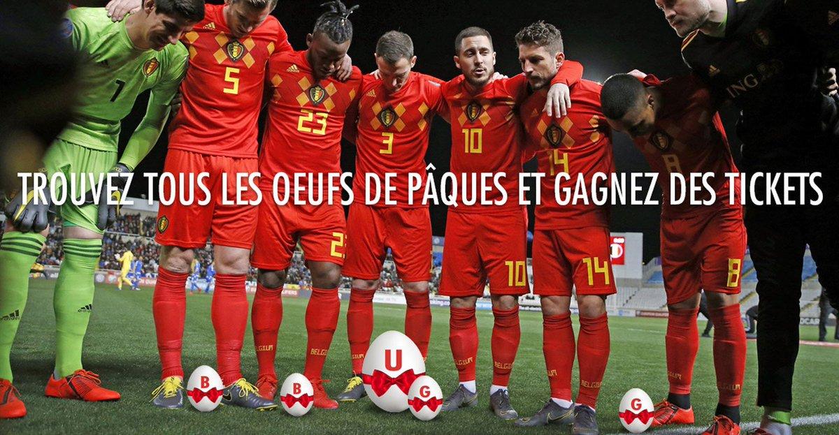 🥚🐰🥚 Remportez des tickets pour nos matches en juin ! Il faut d'abord retrouver les œfs sur notre site. 😉  📲  http://bit.ly/paasactiefr  #COMEONBELGIUM 🇧🇪