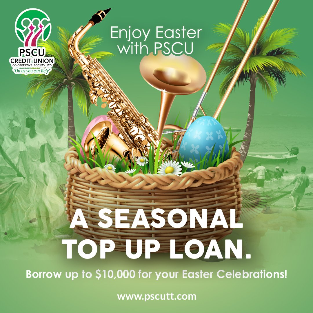 Borrow up to $10,000 for your Easter Celebrations with #PSCU Seasonal Top Up Loan!  #OnUsYouCanRely