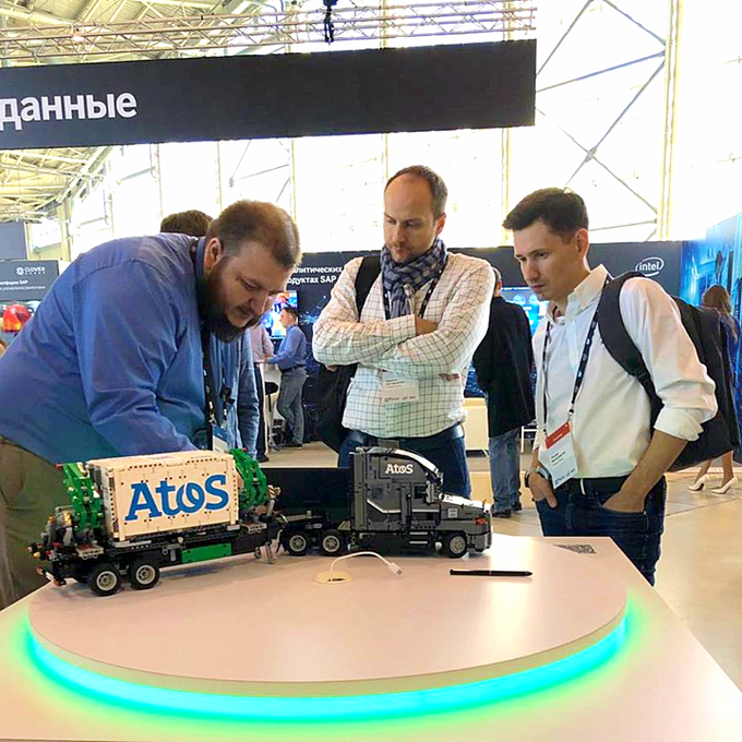 At #SAPForum 2019 in #Moscow today @Atos presented an IoT Truck showcase based on...