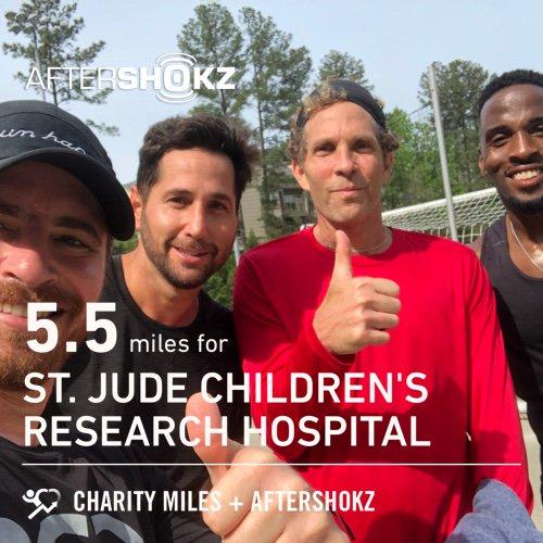 5.5 @CharityMiles w @JesseItzler & @BodyByBrownBBB for @StJude. Thx @Aftershokz for sponsoring me. #ShokzMiles #BYLR