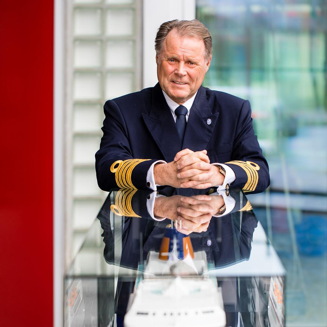 The new captain of the #EUROPA, Dag Dvergastein from Norway. Welcome Aboard! #LuxuryTravel