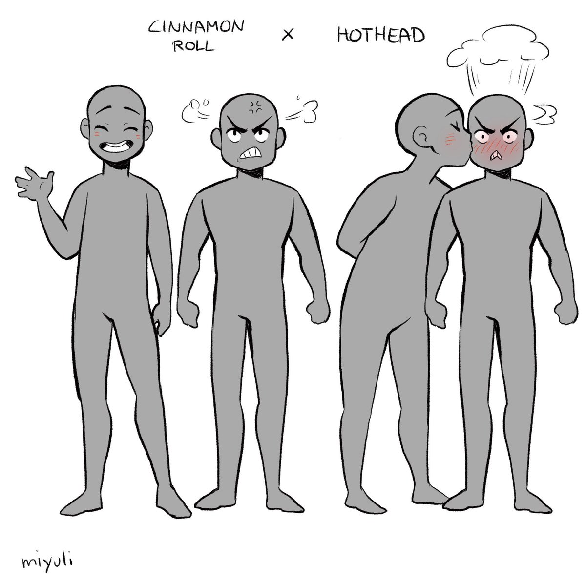 People were sharing their favourite ship dynamics so I tried drawing mine.