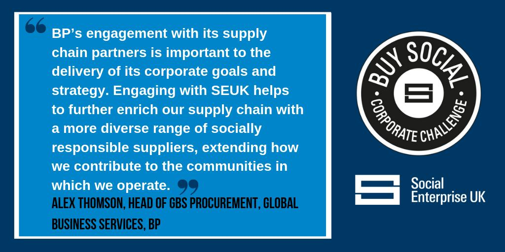 Alex Thomson, Head of Global Procurement Services @BP_UK  on engaging social enterprises in their supply chain as part of the #BuySocial Corporate Challenge.  Find out more about the Corporate Challenge and how you can get involved http://ow.ly/7dmX50qDwSD  >>  #socent