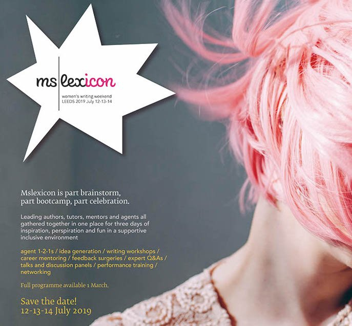We have 5 full bursaries for a low income woman writer available for Mslexicon! Please submit a completed application form and a 2k-5k extract of your writing to postbag@mslexia.co.uk   Deadline: 26 April  Download the form on our booking page: https://bit.ly/2TgxWbk