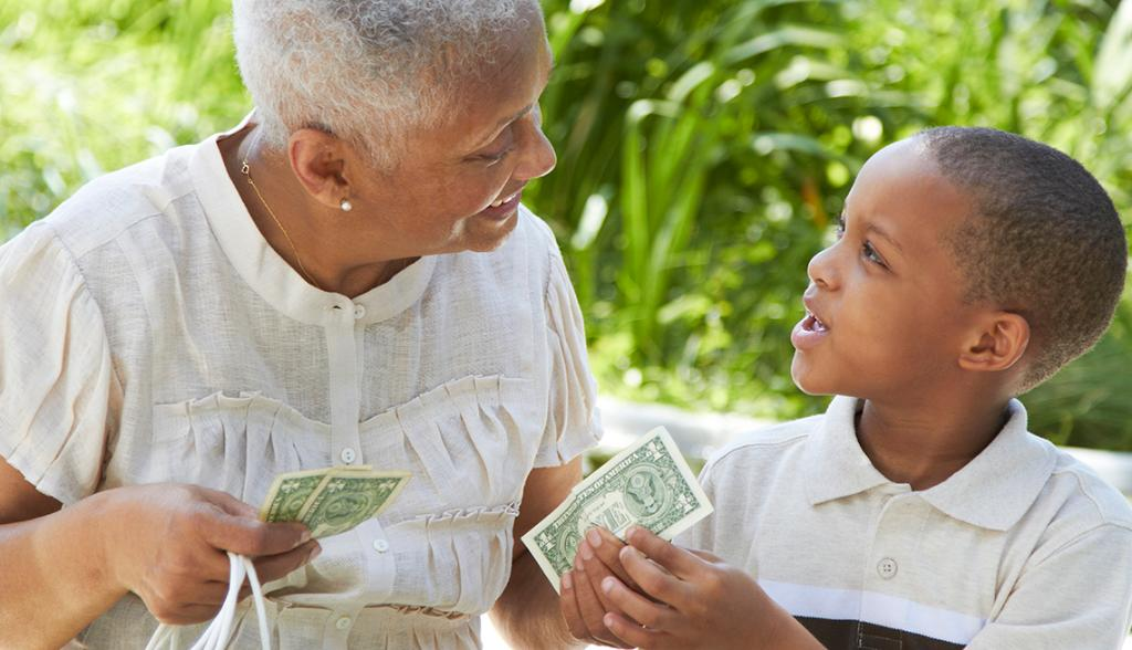 April is Financial Literacy Month, which means it's a good time to start teaching your grandkids. Here are three money lessons to teach your grandchildren: http://spr.ly/6018EdFnQ