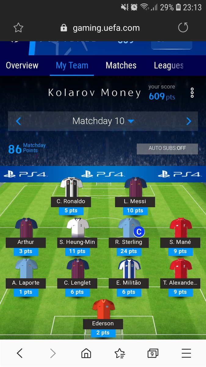#UCLFantasy   Thats more like it after all the Duffy fun of the last few days