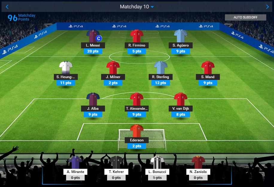 #UCLFantasy #MD10: 9⃣6⃣ 💪 OP: 646 OR: 1646🔺 (+1369)  A big result on #MD10.  Recovered 60% of the points I lost in the past two MDs. Target is to end the season in top 1k. Not an easy mission.  Thanks @FPLForum for your tip to include Firminio even if he's starting on bench!