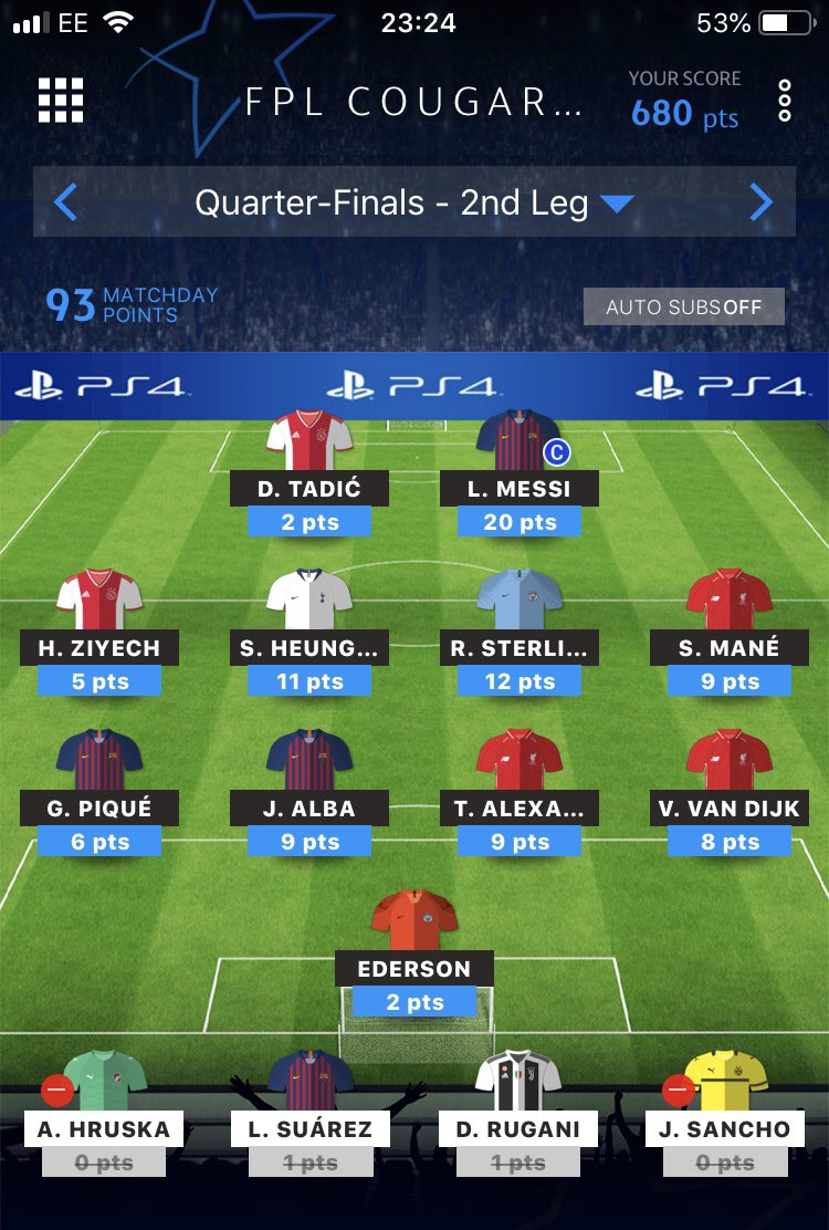 #ucl #uclfantasy   93 all out! Green arrow 340 OR!   Transferred out Aguero and Militao 🤦♀️😡