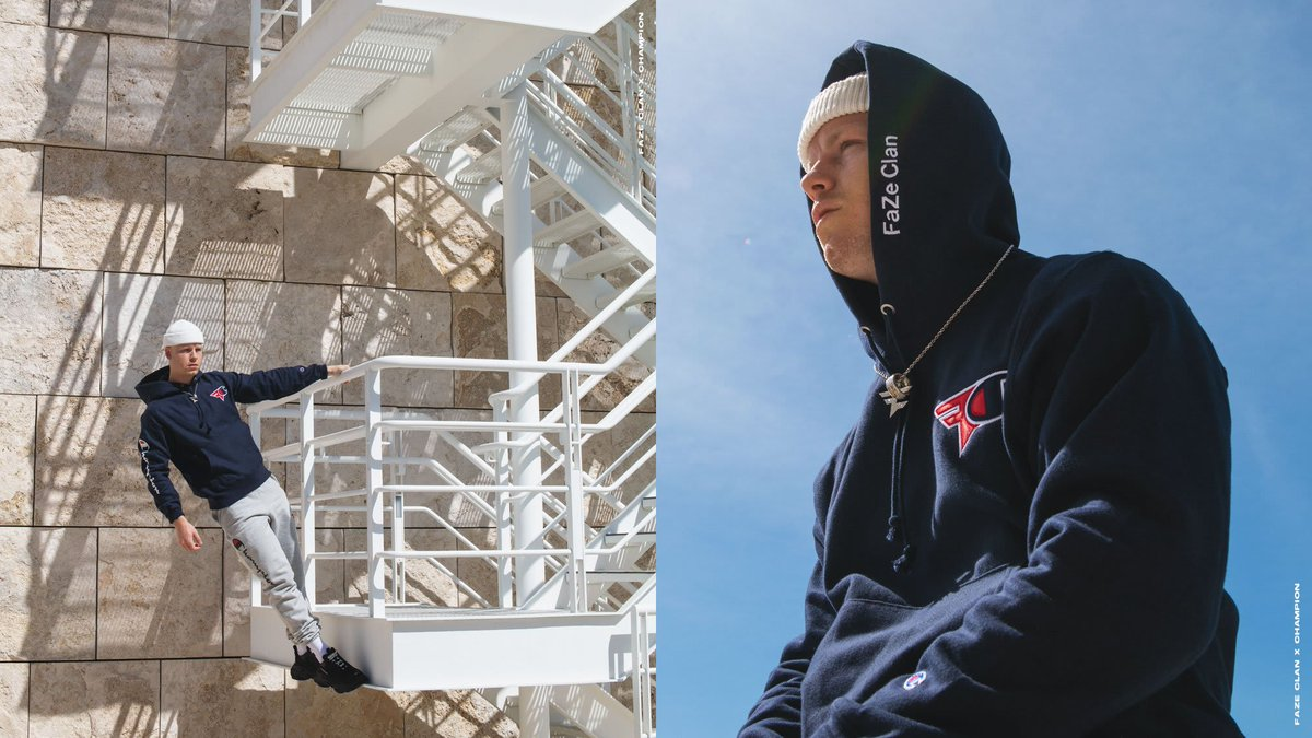 .@FaZeClan is back with another @ChampionUSA collab collection  Here's FaZe Clan x Champion 2.0: http://cmplx.co/zR64fNC