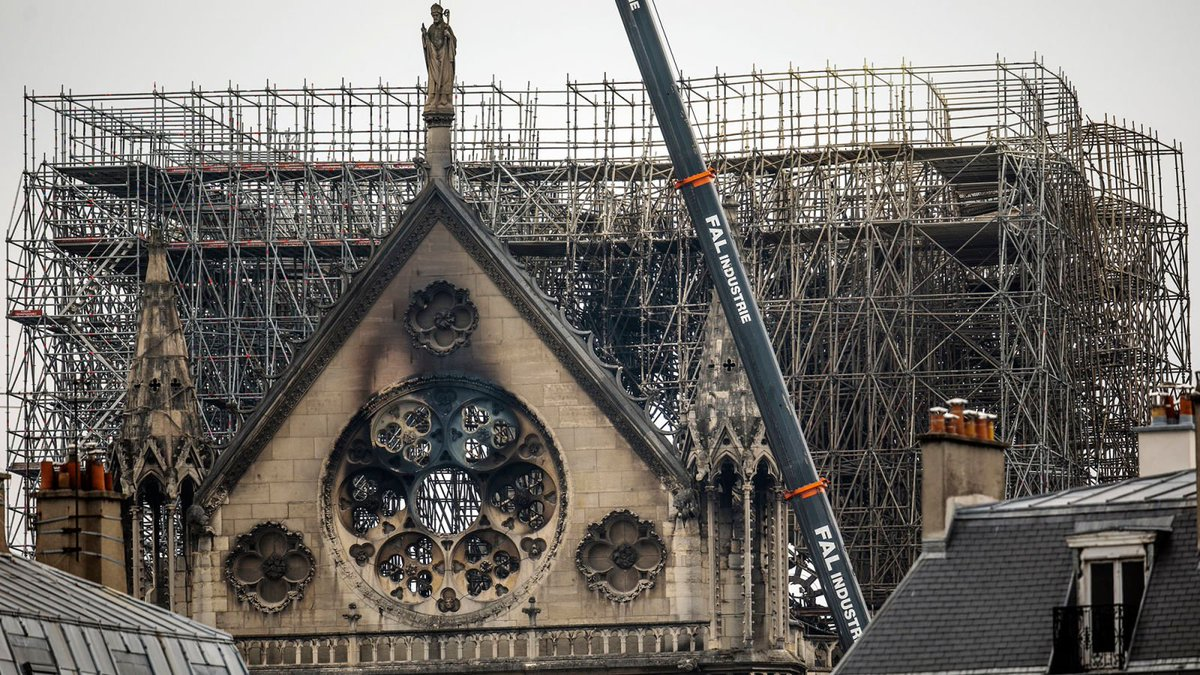 Investigators Trace Cause Of Notre Dame Fire To Cathedral's Outdated 12th-Century Electrical System  https:// trib.al/yx0PnH1  &nbsp;  <br>http://pic.twitter.com/K2xSU1xrCE