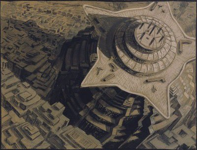 Beautiful concept art for Fritz Lang's, 'Metropolis' (1927).