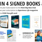 GIVEAWAY ALERT: Enter for a chance to win signed copies of books by @CynthiaLIVE, @tashaeurich, @our_nextlife and yours truly—plus a $100 VISA gift card a two-year subscription from @ExperienceLife and an annual subscription to @NextBigIdeaClub. https://t.co/RzLThEo9Rr #giveaway