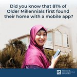 Did you know? 81% of Older Millennials first found their home with a mobile app. #NARGenTrends
