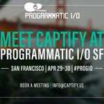 The Captify team is headed to AdExchanger's #PROGIO in SF this month and looking forward to discussions on the latest trends driving the programmatic industry. Get in touch with @Captify to book a meeting on the ground: https://t.co/4STnOlh0Bv