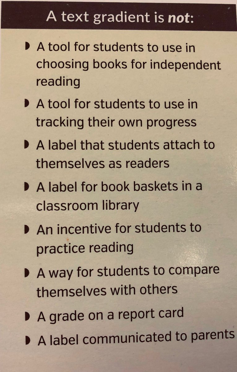Rethinking our use of text levels in the classroom #literacycontinuum @FountasPinnell⁩
