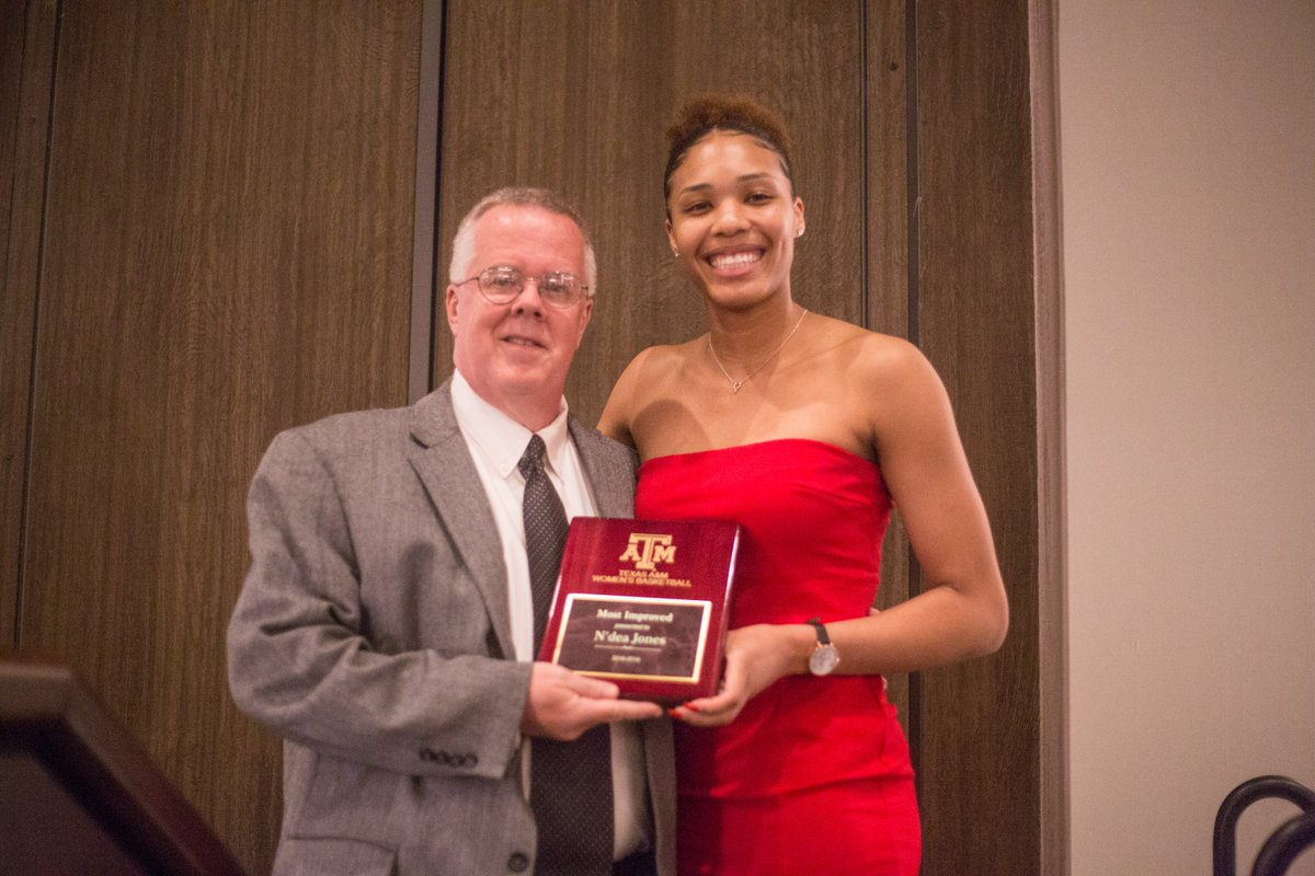 Her stock is rising 📈  When we needed her most, she performed. Where there was a loose ball, she grabbed the board. Scary thing is? She just keeps getting better.  This year's Most Improved Player: @NdeaJones 🏆