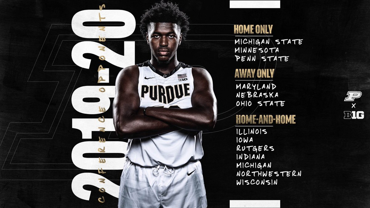 Conference foes are set.   We know what's ahead of us.   #Purdue / #BoilerUp 🚂 https://t.co/aSc6kfkiBE