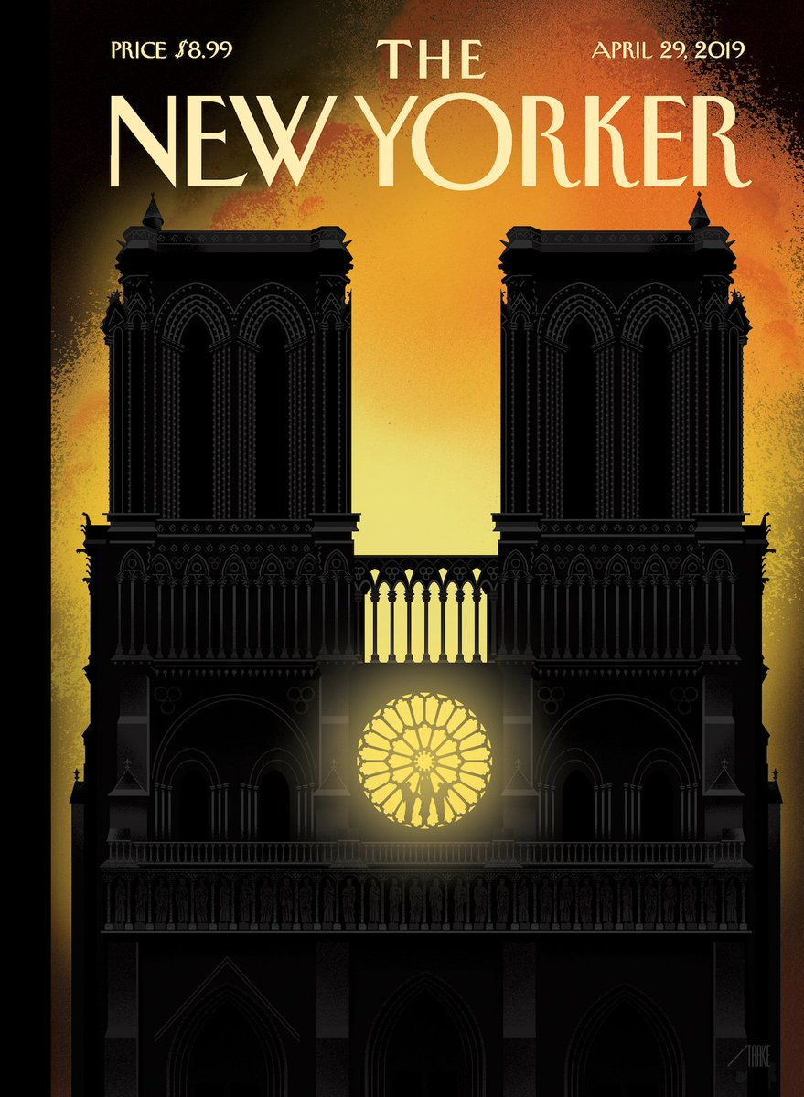 """An early look at next week's cover, """"Our Lady,"""" by Bob Staake: http://nyer.cm/Jz4unhJ"""