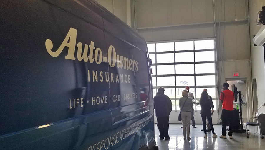 Thanks for the visiting! 👋 Today we hosted 60+ #HighSchool students at our claims training center to demonstrate the many #careers in the #insurance field.