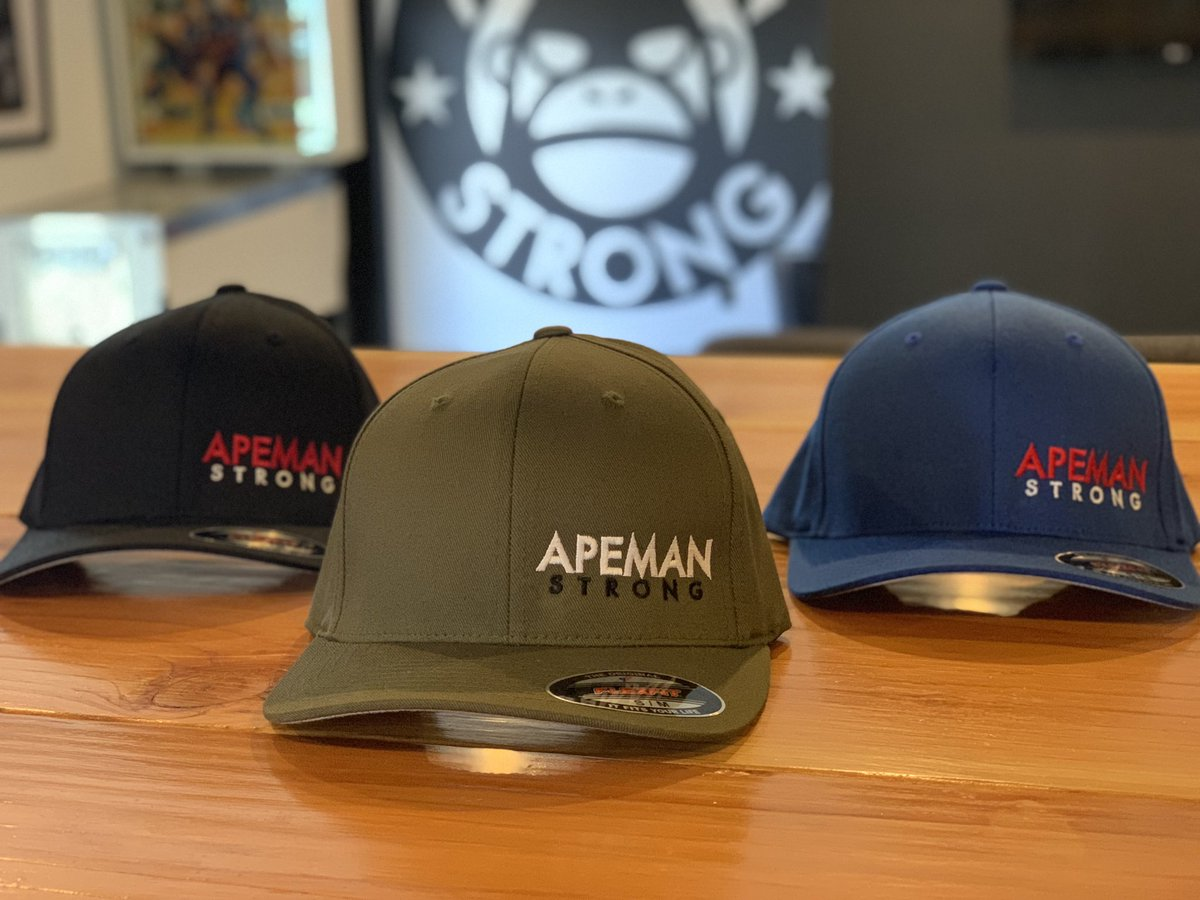 New Flexfit Hats. apemanstrong.com/fitted