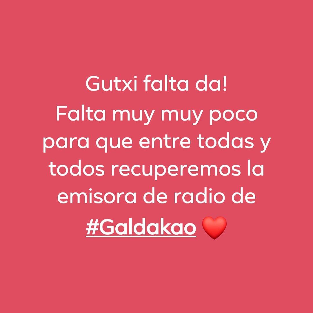 Herritik herrirako!  Del pueblo para el pueblo, para todas y todos, de todos los colores!  💪☺️❤️❤️❤️ #Galdakao #Bizkaia #MozoiloIrratia #GDKOirratia #Radio #Irratia https://twitter.com/GDKOirratia/status/1118598516635516929/photo/1pic.twitter.com/PCdVC2uVx8