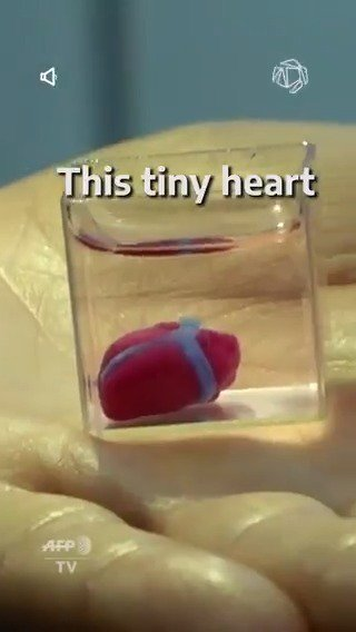 #RT @Seeker: RT @ccplus: Wonderful news, this #heart is the first #3DPrinted tissue with blood vessels! #WednesdayMotivation