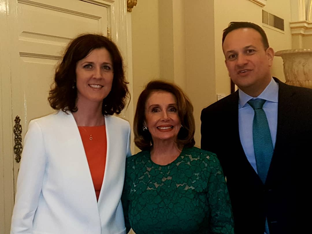 Pleasure to meet Speaker of US House of Representatives @SpeakerPelosi in company of Taoiseach @LeoVaradkar at @dublincastleopw tonight. Celebrating 100 years since our first Dáil & good US-Irish relations. @ChamberBallina @thecontel @MayoAdvert @radiomidwest