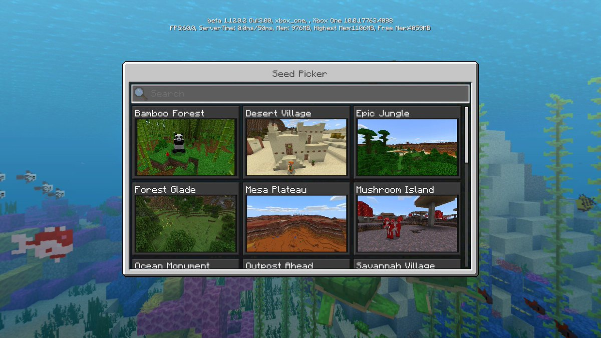 Minecraft News On Twitter Brand New Seeds Finally Available In The Minecraft Seed Picker
