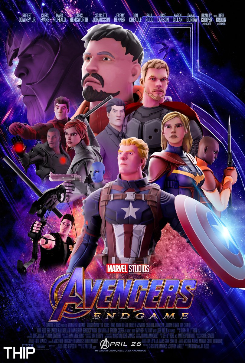 Thip On Twitter Avengers Endgame Poster With Fortnite Characters