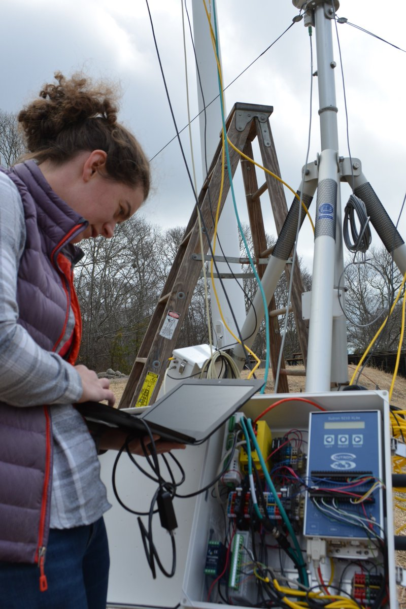 WHRC has a new instrument on campus  This Eddy Flux Tower is being