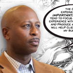 """Superhero """"Krome"""" not only fights villains within the pages of comic books, he also plays a large role in helping Curtis Niles promote his home inspection business. Read the full Q&A with Curtis here: https://t.co/OSVQhgMD2Z"""