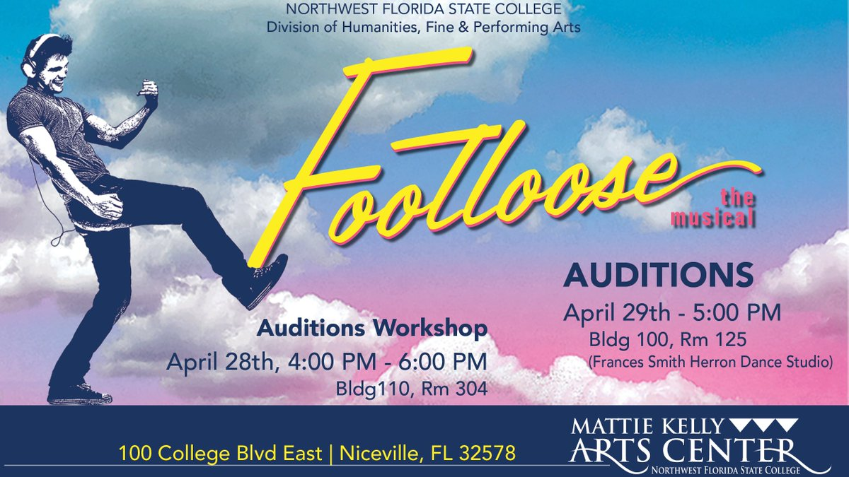 The Humanities, Fine & Performing Arts Division will be holding auditions for their summer production of Footloose. Check out all the info! 👇
